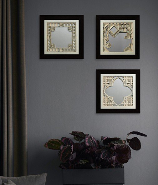 mirror art for walls